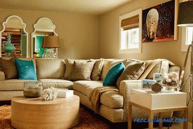 Turquoise color in the interior, with what combines and 40 photos of examples of use
