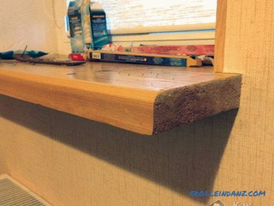 Installing a wooden window sill do it yourself