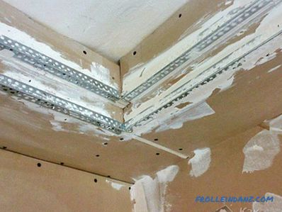 How to make a box of drywall on the ceiling with your own hands (+ photos, diagrams)