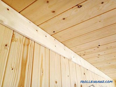 How to fix the wall paneling to the ceiling