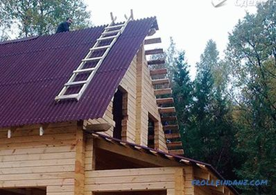 Gable roof do it yourself - erection of a gable roof + photo