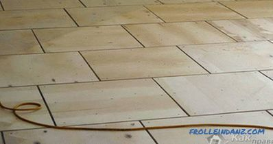Leveling the floor with plywood do it yourself + photo