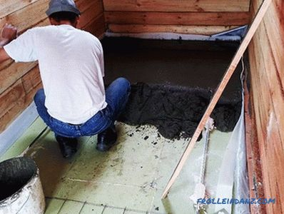 How to make the floor in the bath with their own hands + photo