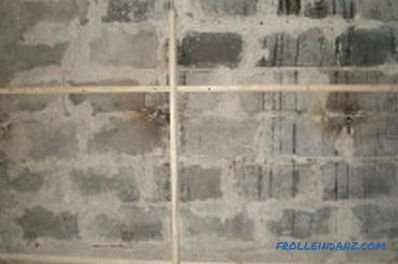 Wooden frame for plasterboard: materials