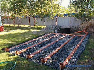 Filtration field for septic tank - calculation and arrangement of filtration field