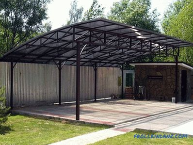 How to make a carport to the house for the car