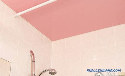 Design of stretch ceilings in the bathroom