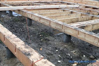 Pile foundation with your own hands - the foundation on piles