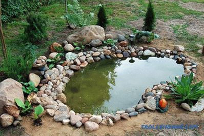 Pond on the summer cottage - the construction of an artificial reservoir (+ photos)