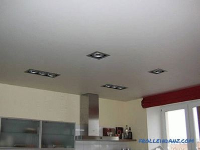The ceiling in the kitchen with their own hands
