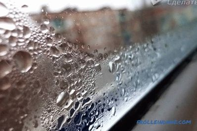 How to get rid of condensation on pvc windows