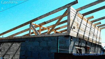 How to make a lean-to roof garage
