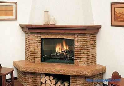 Decorative stone trim - fireplace lining