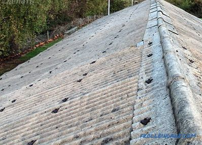 How to block the roof slate - installation
