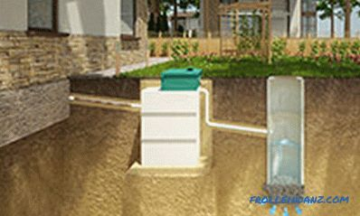 Autonomous sewage in a private house