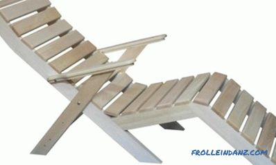 Wooden chaise longue DIY: folding design for relaxation