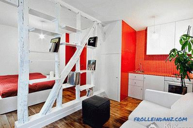 Room zoning by partitions - methods of zoning by partitions + photo