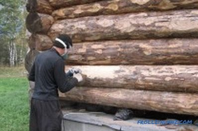 Felling processing: fire retardant and antiseptic