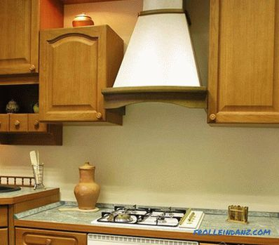 How to hang a hood over the stove