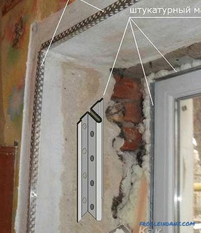 How to plaster slopes on the windows