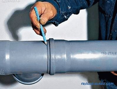 Insert into a sewer pipe - how to make a insert into a sewer pipe
