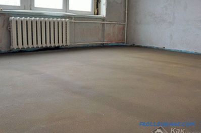 Screed under the laminate with their own hands