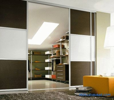 Do-it-yourself sliding partitions - installation and manufacturing (+ photos)