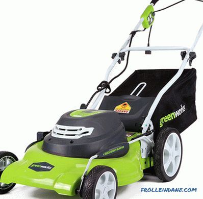 Types and types of lawn mowers - detailed overview