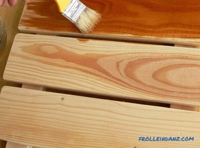Impregnation of wood with linseed oil at home