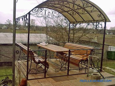 How to build a gazebo do it yourself + photo