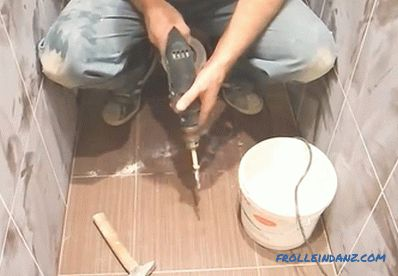 How to install the toilet on the tile do it yourself