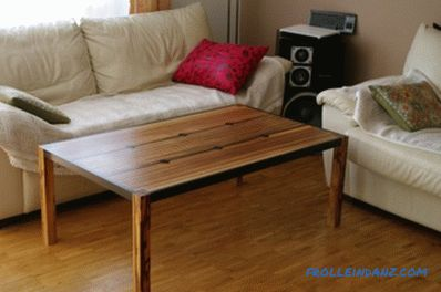 Coffee table do it yourself from scrap materials