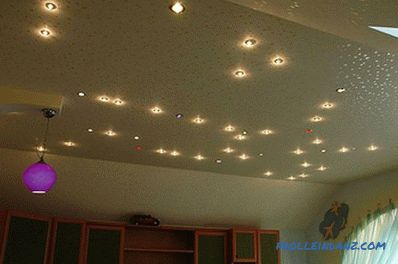 Spot lights for plasterboard ceilings