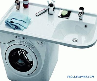 Sink over washing machine - how to choose and install