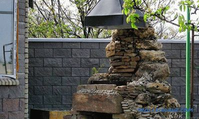 Stone grill with his own hands - the construction of a grill made of stone (+ photos)