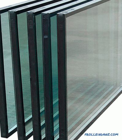 Types of glass for plastic windows and their characteristics