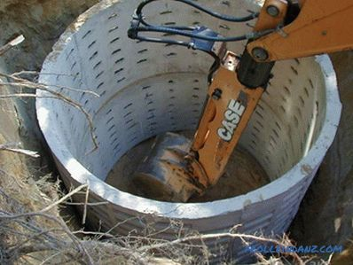 The device of a septic tank of concrete rings