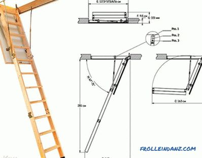 How to make a ladder to the attic with your own hands