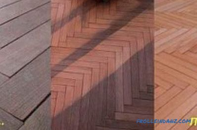 Wood floor processing: material selection