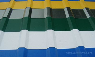 Types of corrugated roofing, fence, walls, profile types and sizes