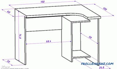How to make a computer desk with your own hands + photos, drawings