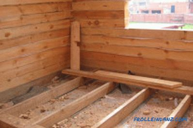 How to install floor logs: fixing methods (video)
