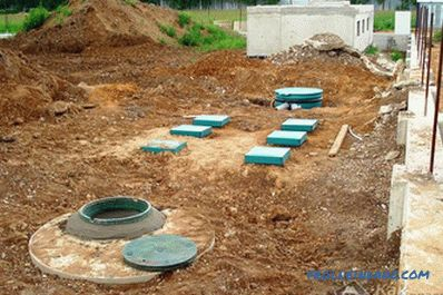 Septic tank without pumping their own hands