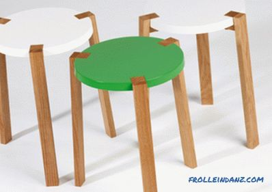 Wooden stool do it yourself: make it quick and easy
