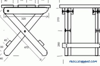 Do-it-yourself folding chair: detailing, assembly process