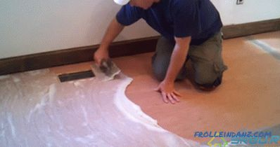 DIY laying linoleum - step by step instructions