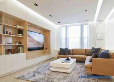 All types of plasterboard ceilings with photo examples