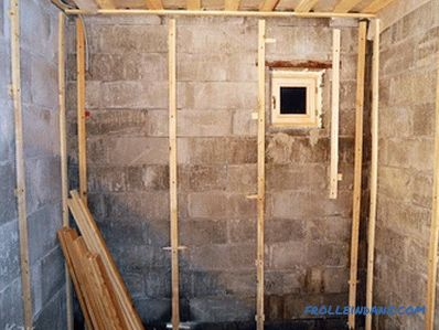 How to make a crate for drywall on the wall, ceiling (+ schemes)