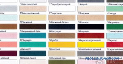 How to choose a grout color - tips on choosing a grout color + color chart