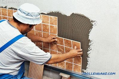 Laying ceramic tiles do it yourself on the walls, on the floor